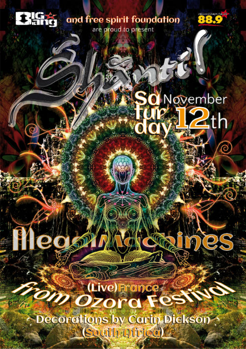Shanti ! v.5.0 ::  Illegal Machines Live ( France )  + Carin Dickson ( South Africa ) psy trance rome italy